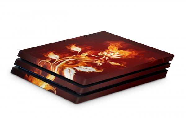 Playstation 4 Pro Skin Design Sticker für PS4 Pro - Flower of Fire